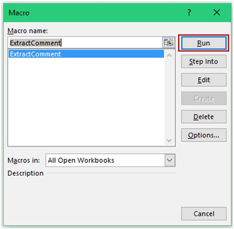 get a list of all the comments in a worksheet in excel