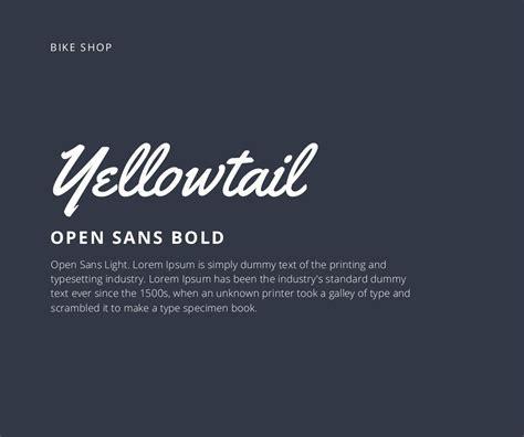 canva font pairing yellowtail open sans light lorem