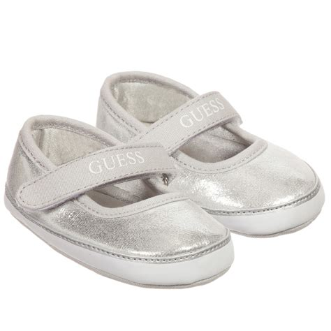 guess baby shoes guess baby silver pre walker shoes childrensalon