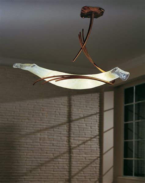 sil roma sp8 230 blown glass ceiling light