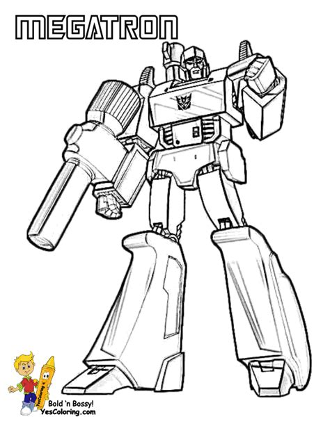 transformers animated coloring pages transformers animated megotron free coloring pages