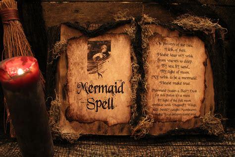 Handmade Spelling - handmade spell book mermaid spell