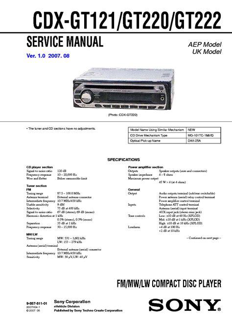 sony cdx gt660up wiring diagram sony cdx gt110 wiring