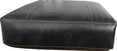 couch cusion covers rectangular sofa cushion cover bonded leather in black