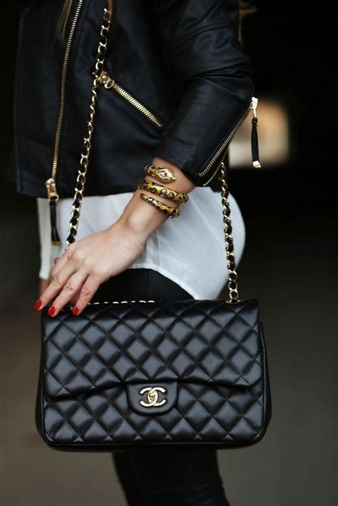 Bag Tas Chanel Classic Klasik Clasic vintage chanel black quilted leather 2 55 10 inch flap shoulder bag one left http
