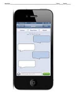 blank iphone text conversation escribir