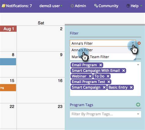 Marketing Calendar Docs Deleting A Filter In The Marketing Calendar Marketo Docs