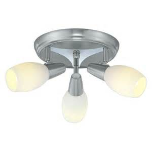 homedepot light fixtures eglo parma 3 matte nickel ceiling lighting fixture