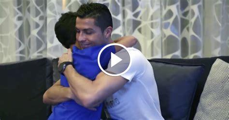 cristiano ronaldo biography son cristiano ronaldo kisses his son on the cheek in this