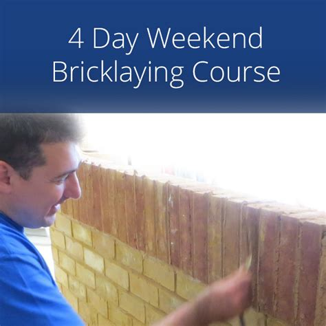 Weekend Reads Product 4 2 by 4 Day Weekend Bricklaying Course Two Weekends