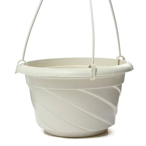 hanging pot hanging flower plant pot home garden decoration white ts