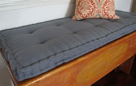how to cushion a bench custom bench cushion gray linen window seat cushion french