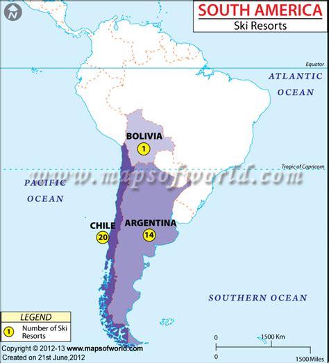 ski resorts in usa map ski resorts in south america south america ski resorts map