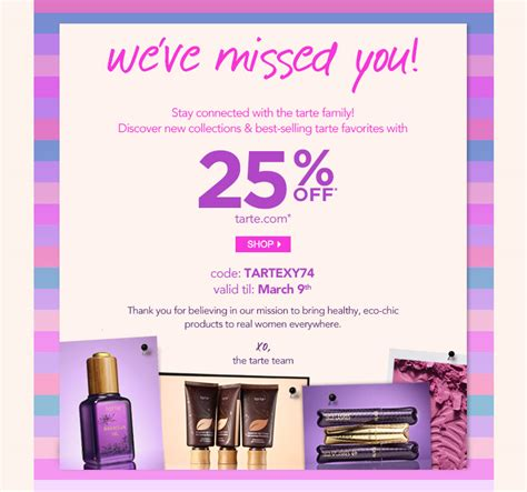 25 Just For You by Tarte Exclusive Offer Just For You 25 Milled