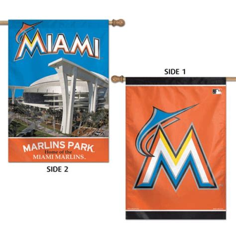 double sided house flags miami marlins double sided house flag your miami marlins double sided house flag
