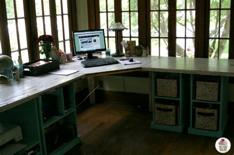 hometalk rustic office desk pottery barn style
