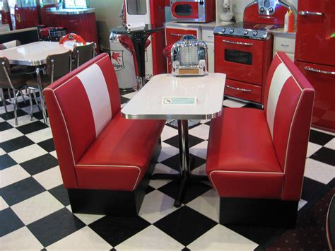 kitchen booth furniture black and white 50 s diner cruiser diner booth set 50s