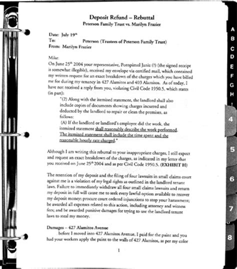 letter of rebuttal template recover your security deposit write a rebuttal letter to