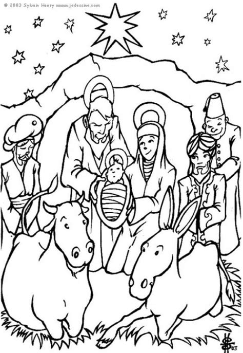 Printable Nativity Coloring Pages Coloring Home Coloring Pages Nativity