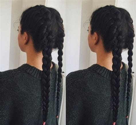easy hairstyles with two braids welcome to the dark side 20 sexy brunette hairstyles