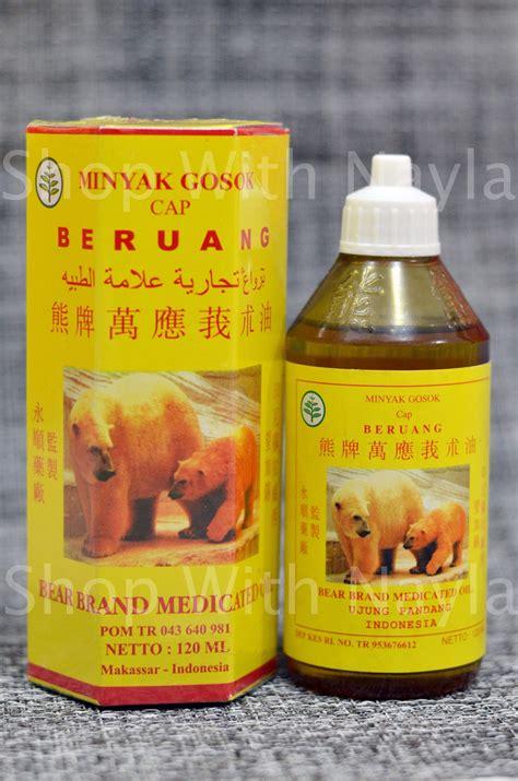 Minyak Gosok Cap Beruang jual minyak gosok cap beruang 120 ml shop with nayla