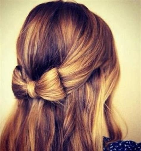 down hairstyles with bows cute half up half down with bow tresses pinterest