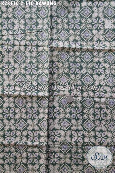 kain batik klasik motif kawung proses cap tulis jual