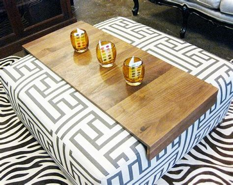Table For Ottoman Ottoman Wrap Tray Reclaimed Wood Drink Rest Table For