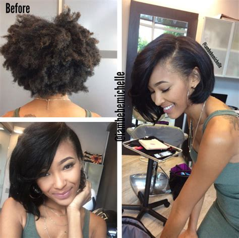 short pressed hairstyles lovely silk press via iambebemichelle black hair