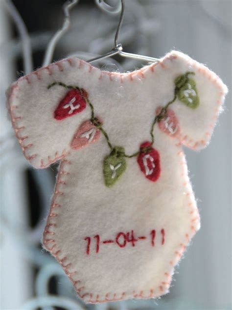 baby s first christmas ornament christmas crafts pinterest