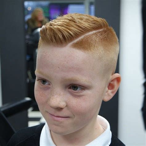 hairstyles for a redhead boy slick haircut with a quiff on this ginger boy ginger