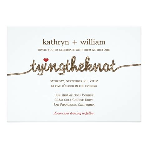 Wedding Invitations Knot by Tying The Knot Modern Wedding Invitation Zazzle