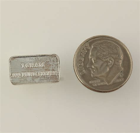 uscg small silver bar 999 silver 1 gram bullion - 1 Gram Silver Bars Price
