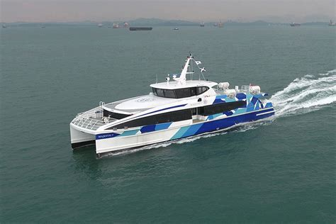 catamaran ferry service majestic ferries takes delivery of first hsc catamaran