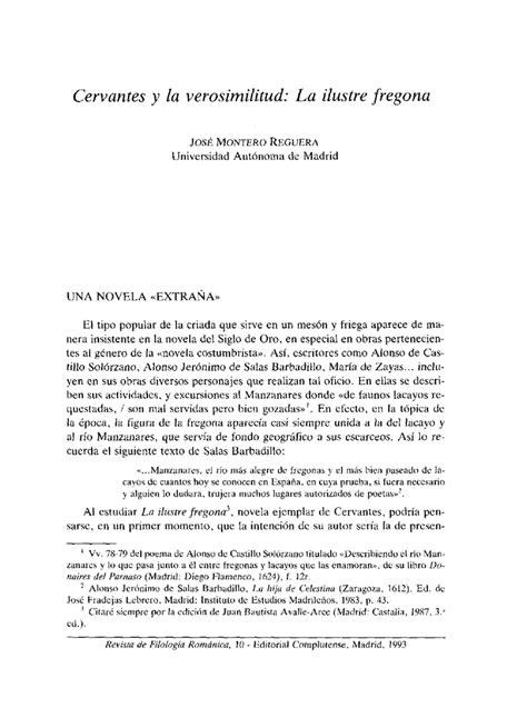 Cervantes y la verosimilitud: La ilustre fregona