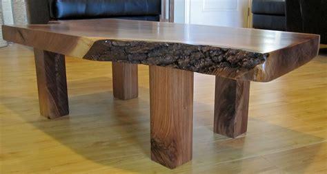 custom walnut slab coffee table by tpt cal custommade