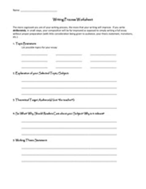 Writing Process Worksheet by Writing Process Worksheet 1b 2 Name Writing
