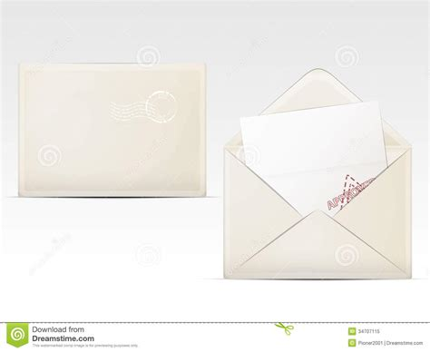 Envelopes With Paper - paper envelopes royalty free stock photo image 34707115
