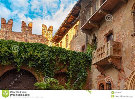 balcony theme romeo and juliet romeo and juliet balcony in verona italy stock photo