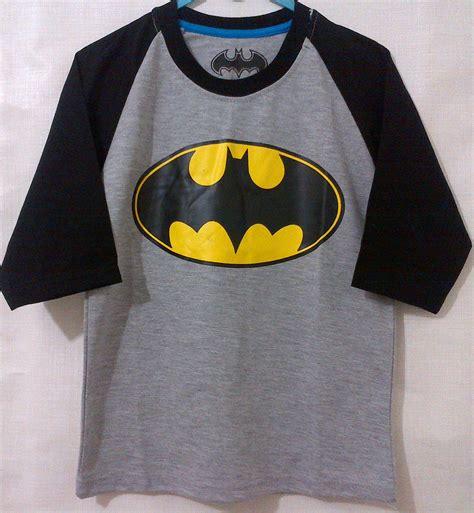 Kaos Logo Batman Murah kaos anak batman logo lengan 3 4 raglan 1 6 grosir