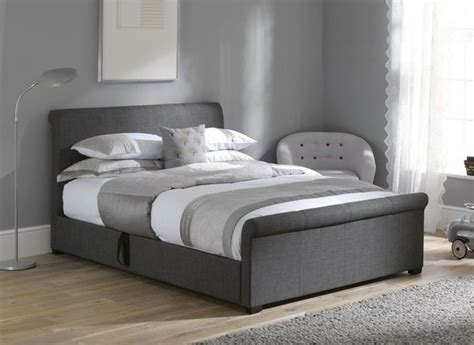 Grey Fabric Ottoman Bed Wilson Grey Fabric Ottoman Bed Frame The O Jays Beds And Ottoman Bed