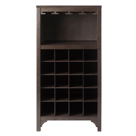 wine glass storage cabinet amazon com winsome ancona wine cabinet with glass rack