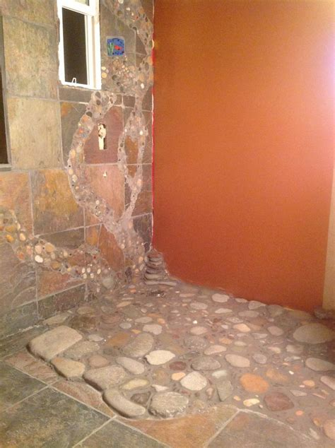 river rock shower floor 17 best images about master bath river rock shower on
