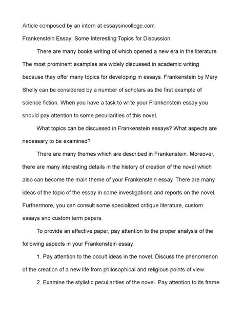 Exle Of Discussion Essay by Essay Discussion Exle