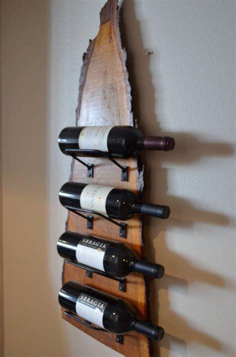 natural wood   edge wine rack  edge wood
