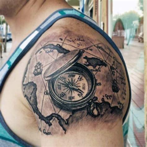 compass tattoo on shoulder 63 elegant compass tattoos for shoulder