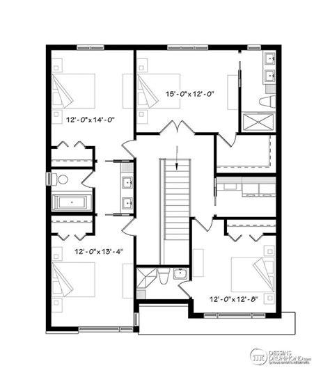 plan de maison 4 chambres avec 騁age maison contemporaine avec 4 chambres et un garage