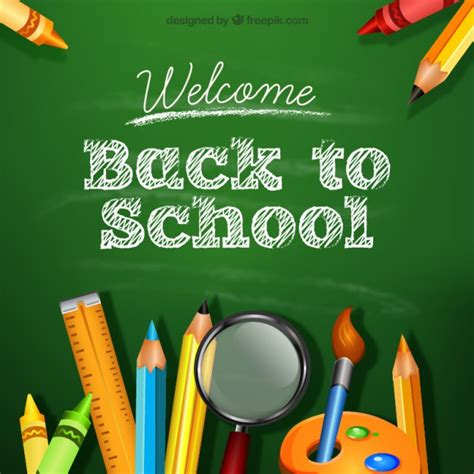 back to school background background of back to school vector free