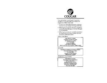 download car manuals pdf free 1997 mercury cougar seat position control download 1997 mercury cougar owner s manual pdf 308 pages