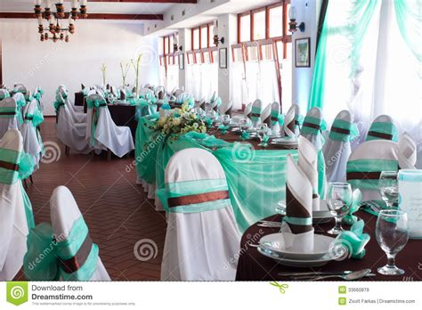 beautiful table settings green and brown an image of tables setting at a luxury wedding hall stock